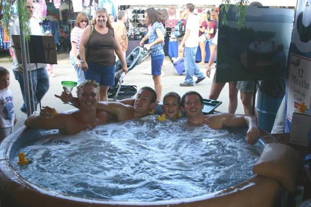Group in Hot Tub